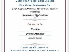 205th Afghan National Army New Mission Facilities (Kandahar)